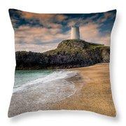 Lighthouse Beach Throw Pillow