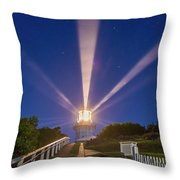 Lighthouse Beams By The Southern Cross Throw Pillow