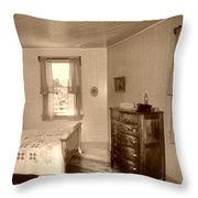 Lighthouse Bedroom In Sepia Throw Pillow