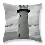 Lighthouse Bnw Auckland Throw Pillow