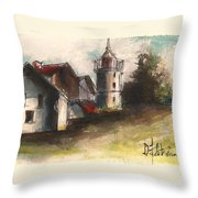 Lighthouse By Day Throw Pillow