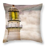 Lighthouse Cape Elizabeth Maine Throw Pillow