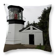 Lighthouse Cape Meares Throw Pillow