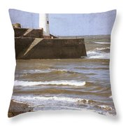 Lighthouse Throw Pillow by Amanda Elwell