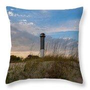 Lighthouse Dunes Throw Pillow