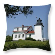 Lighthouse Fort Point Throw Pillow