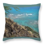 Lighthouse From Above Throw Pillow