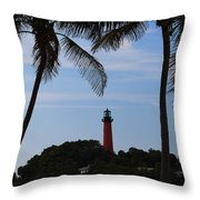 Lighthouse From Afar Throw Pillow
