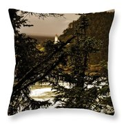 Lighthouse From The Distance Throw Pillow