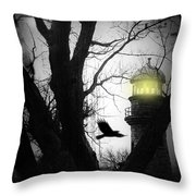 The Lighthouse Is Lit  Throw Pillow