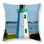 Lighthouse Hdr Throw Pillow