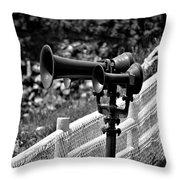 Lighthouse Horns Throw Pillow