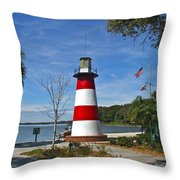 Lighthouse In Mount Dora Throw Pillow