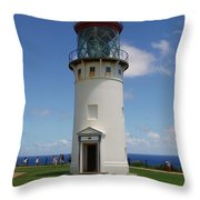 Lighthouse In Paradise Throw Pillow