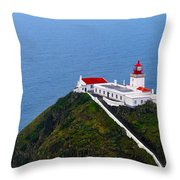 Lighthouse In The Sky Throw Pillow