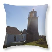 Lighthouse In The Sun Throw Pillow