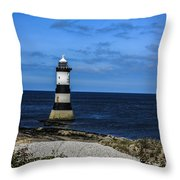Lighthouse Isle Of Anglessy Wales Throw Pillow