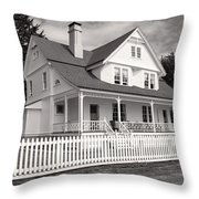 Lighthouse Keepers House  Throw Pillow