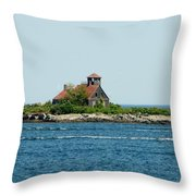 Lighthouse Keepers Residence Throw Pillow