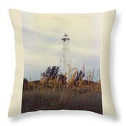 Lighthouse Landscape Throw Pillow