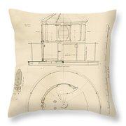 Lighthouse Lantern Drawing Throw Pillow