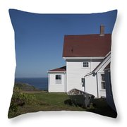 Lighthouse Monhegan Color Throw Pillow