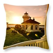 Lighthouse Mukilteo Throw Pillow