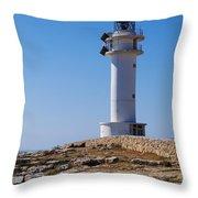 Lighthouse On Cap De Barbaria On Formentera Throw Pillow