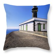 Lighthouse On Hierro Throw Pillow