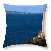 Lighthouse On The Coast, Phare Du Petit Throw Pillow