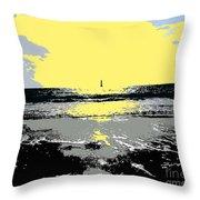 Lighthouse On The Horizon Throw Pillow