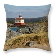 Lighthouse Over The Dunes Throw Pillow