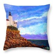 Lighthouse Overlook Throw Pillow