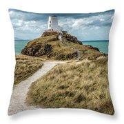 Lighthouse Path Throw Pillow