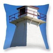 Lighthouse Pei Throw Pillow by Edward Fielding