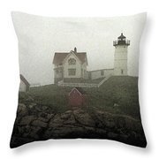 Lighthouse - Photo Watercolor Throw Pillow