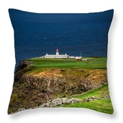 Lighthouse Ponta Do Albernaz Throw Pillow