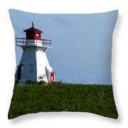 Lighthouse Prince Edward Island Throw Pillow