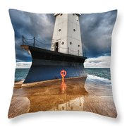 Lighthouse Reflection Throw Pillow