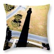 Lighthouse Shadow Throw Pillow