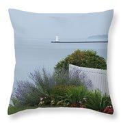 Lighthouse Sodus Bay New York Throw Pillow