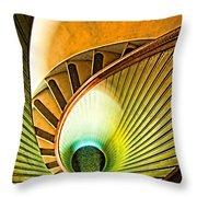 Lighthouse Stairway - Point Loma San Diego Throw Pillow