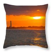 Lighthouse Sun Reflections Throw Pillow