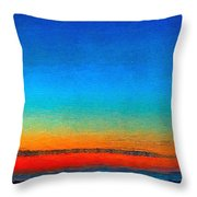 Lighthouse Sunrise Throw Pillow by Julis Simo
