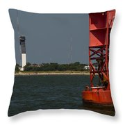 Lighthouse To Buoy Throw Pillow