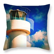 Lighthouse To The Clouds Throw Pillow