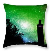 Lighthouse Under The Stars Xii Throw Pillow