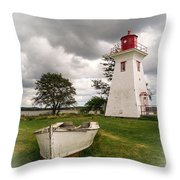 Lighthouse Victoria By The Sea Pei Throw Pillow