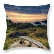 Lighthouse View Throw Pillow
