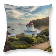 Lighthouse Walk Throw Pillow by Adam Jewell